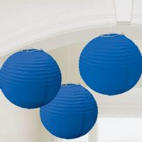 Royal Blue Paper Lanterns 24cm (3)